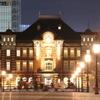 夜の東京駅正面