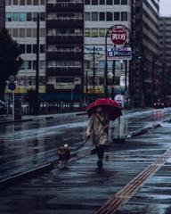 雨のときのオシャレ。