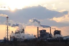 工場の見える街