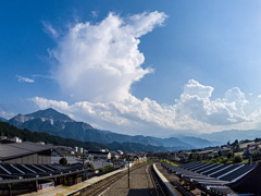 夏雲と武甲山