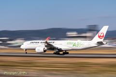 A350 離陸流し~(笑)^^_