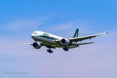 NRT Bラン降り Alitalia B7