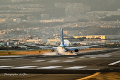 ANA B737-800 Touch-down