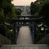 夕陽がなくてももう少し何とかしたい…(宮地嶽神社)