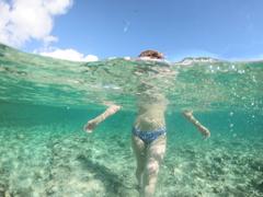 瀬底島の海と空