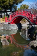 太鼓橋と鏡