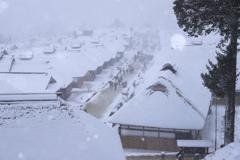 雪降る宿場町