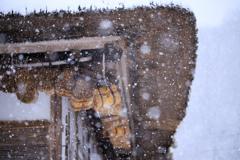 雪と軒先と