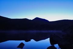 くじゅう連山 御池の朝