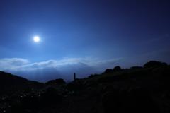 くじゅう連山 月夜の山歩き