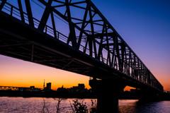 夕焼けの鉄橋