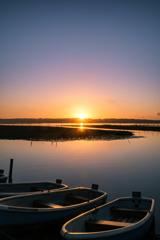 印旛沼の朝活