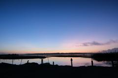 沼の夜明け前