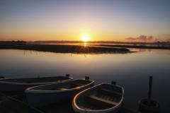 印旛沼の日の出
