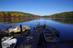 白駒池とボート