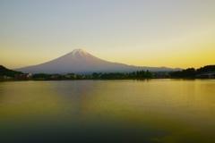河口湖の夕焼け