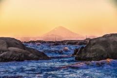 南房総から見た富士山