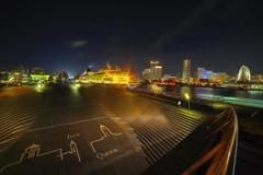 横浜大桟橋の夜景