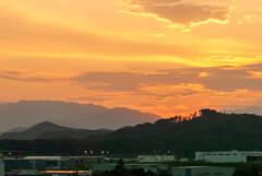 2021.7.19平日に替わった日の夕景
