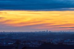 加治丘陵から関東平野眺望・日の出前