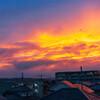 屋上の夕景
