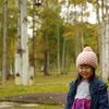 常盤公園で笑顔の写真撮り