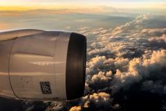 飛行機の旅