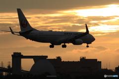 landing silhouette
