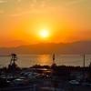 新夕陽丘からの夕日