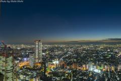 Million-dollar night view in autumn