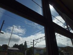 窓越しの夏