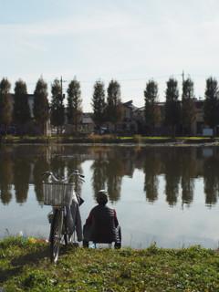 おっさんと池