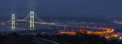 闇夜の白鳥大橋