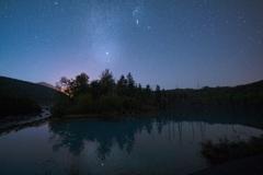 青い池の天の川