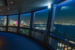 マリンタワー展望台より大さん橋方面を望む