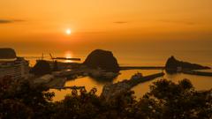 ウトロの夕陽台