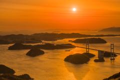 凪の夕景美