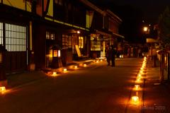 木曽福島 雪灯り その1