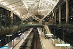 元旦夜の高輪ゲートウェイ駅