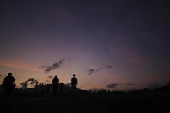 煙山の夕方