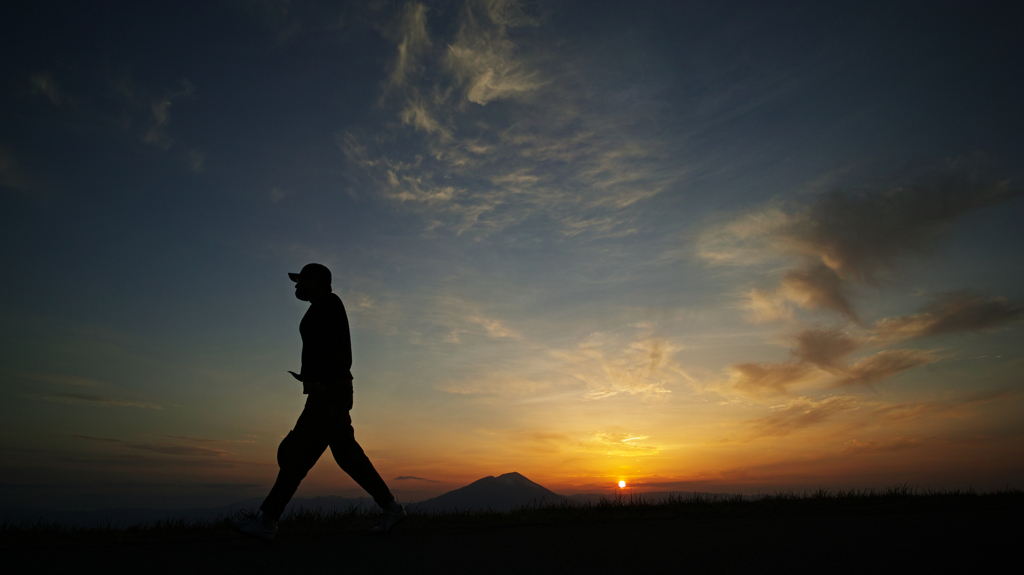 Walk in the sunset