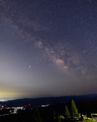 三重の空・銀河輝く・天の川