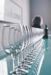 Wine glasses in Bordeaux