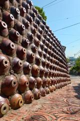 焼き物の壁