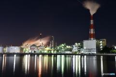 夜工場を撮る