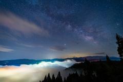 天の川と雲海