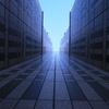 都庁、空に通じる道
