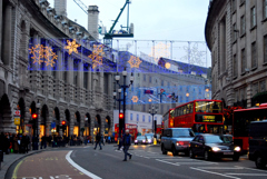 年末のRegent Street・・ロンドン