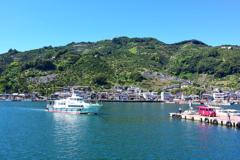 みかん山がある港