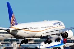UA B787 まもなく着陸